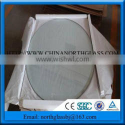 8mm Clear Tempered Glass Round Shape Glass