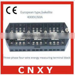 CNXY manufacture bakelite measuring terminal block with fuse