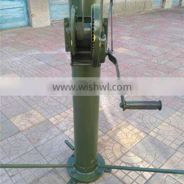 customized color radar aluminum alloy pump mast