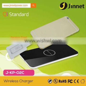 2015 Qi Standard Wireless Battery Charger for Samsung Galaxy S2 S3 MOTO X J-KP-O2C