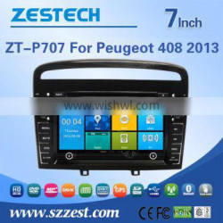 ZESTECH China Factory OEM ODM car dvd navigation for Peugeot 408 with Win CE 6.0 system GPS+DVD+BT+TV+3G+Phone