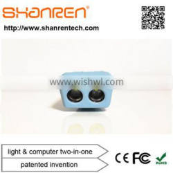 ShanRen Raptor Great Value CREE LED*2 smart bicycle light led usb with speedometer