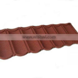 Color stone coated antique metal roof tiles