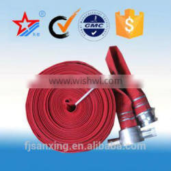 rubber and plastic lined layflat fire hose, fire hose with storz coupling