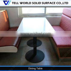 White acrylic dining table/simple style dining table/clear acrylic dining table