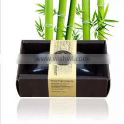 Natural bamboo charcoal essential oil handmade soap