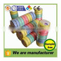 china factory oem cleaning nonwoven wipes compressed dia.4.5cm 10pcs/roll disposable round white mesh hole magic towels