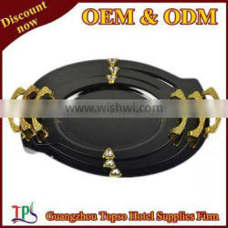stainless steel oval tray with handle T193-1