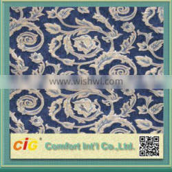 2014 New Design Hot Selling Polyester Acrylic Pattern Chenille Jacquard Upholstery Fabric