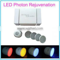 4 Colors Photon LED Light Therapy System Beauty Device with Changeable Heads