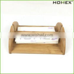 Bamboo Cocktail Napkin Holder w Removable Bar Homex BSCI/Factory