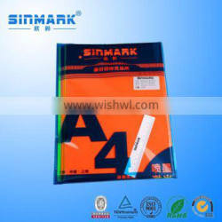 SINMARK 2015 colorful customized blank a4 label sticker