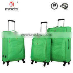 2016 NEW DESIGN CHEAP LIGHT FOUR WHEELS POLYESTER SUITCASE