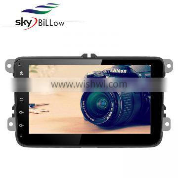 8 inch double din dashboard placement car dvd for vw cars with gps bluetooth mould and reversing aid
