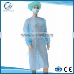 disposable nonwoven elastic cuffs surgical isolation gown