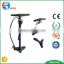 bike floor pump,high pressure iron bicycle floor pump with gauge