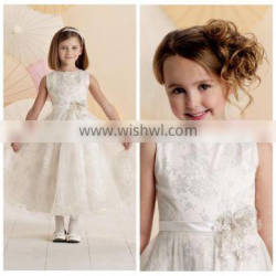 ivory tulle baby girl party western wedding dress for children