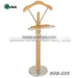 High quality new design clothes hanger rack wooden suit valet stand