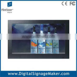 Touch screen metal case indoor 22 inch lcd advertising display