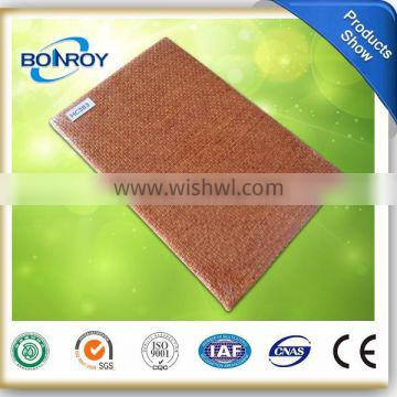 soft fabric and leather fiberglass acoustic panel