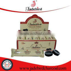 Hardwood briquette charcoal for waterpipe tobacco