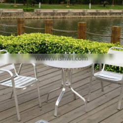 garden dining aluminum table and chair