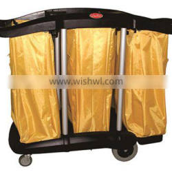Multipurpose Cleaning Service Trolley Cart with bag /Janitor cart