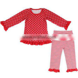 High quality girls christmas boutique outfits girl festive christmas holiday outfits girls Christmas outfits with polka dots