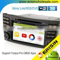 """Erisin ES2501B 7"""" Mercedes W211 2 Din Android 4.4.4 Car Audio with GPS DVD"""