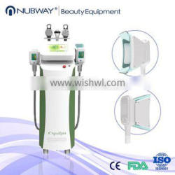 1800w power 4 treatment hand pieces 10-inch LCD touch screen cryo body lipolysis machine