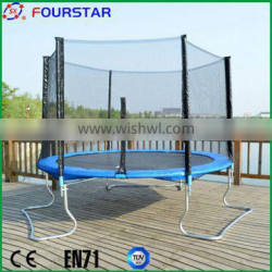 Professional fitness trampoline with roof of different size and color