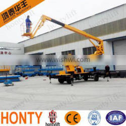 new designed self-propelled articulating one man boom lift /telescopic boom lift