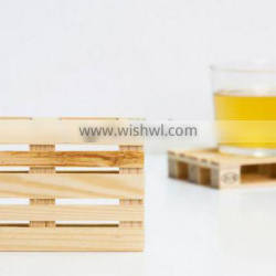 custom blank coaster holder cup wooden pallet coasters