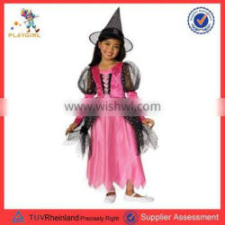 New arrived pink fancy dress witch kids halloween costumes PGCC3212