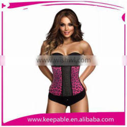 Top quality new design rubber corsets S-6XL Colombia corset with 3 hook and eye same like ann cherry