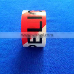 Double side printed Light color PE barrier tape for police use