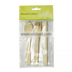 Christmas Party Disposable Colorful Wooden Cutlery /Wood Spoon Knife Fork