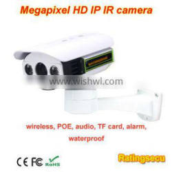 2013 New Hot Sale Megapixel Waterproof POE IP ONVIF IR HD TF Card Surveillance Camera Security Systems Direct Manufacturer