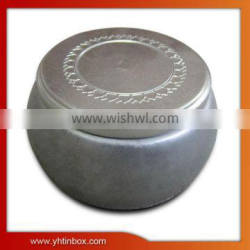 embossing chocolate tin can