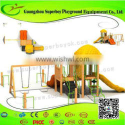Whole Sale Commercial Outdoor Playgound With Swing Set 5-26H