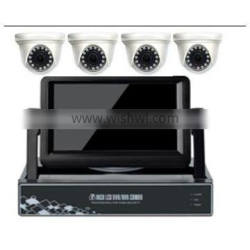 4ch Dvr cctv camera kit with 7' inch lcd high quality of products
