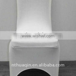 white lycra spandex banquet chair cover for resort and weddings