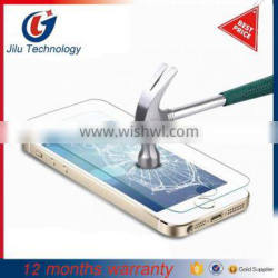 0.3mm 2.5d glass tempered screen protector for iphone 5s glass tempered