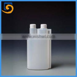 plastic twin neck double neck plastic dosing bottle 1000ml