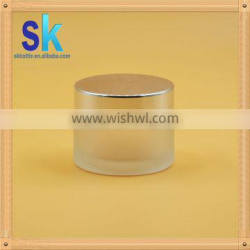 free samples glass jar for face cream with white lip
