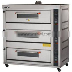 Gas Deck Oven 3 Deck 6 Trays Cake Bakery Oven FMX-O60R