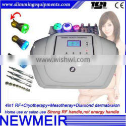Newmeir 4in1 mesotherapy cryotherapy diamond peel rf face lifting machine