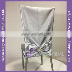 C252C lamour satin chair sashes wedding fancy chair cover