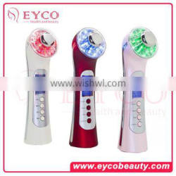5 in 1 ultrasonic beauty massager color light beauty device manufacture directly sale portable massage device