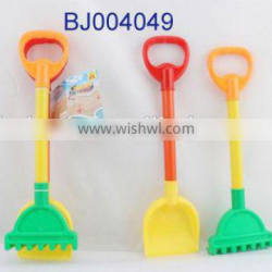 Hot baby toy sand playing toy small green plastic kid shovel and rake